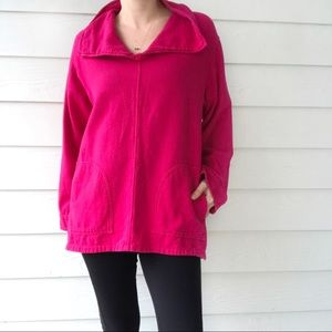 Soft Surroundings • Pink Tunic Popover Sweater
